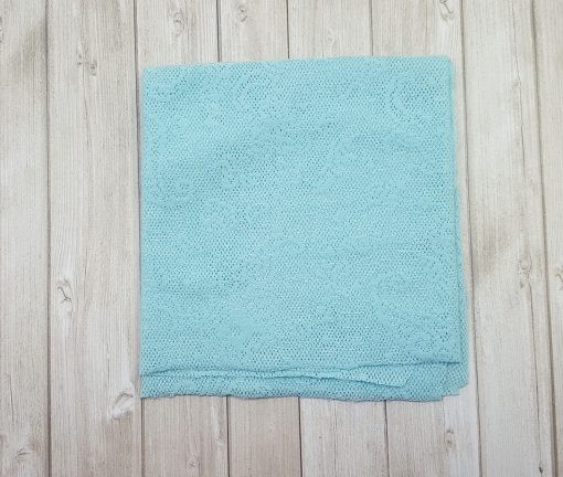 tissu dentelle stretch bleu