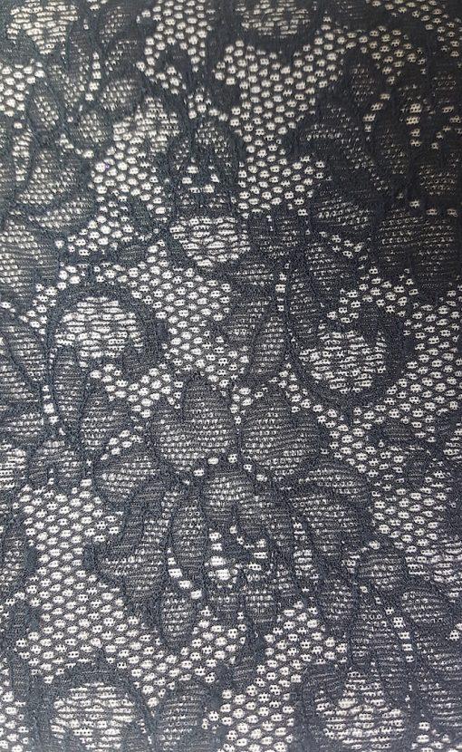 tissu dentelle extensible noir