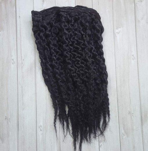 cheveux ondulés noir long
