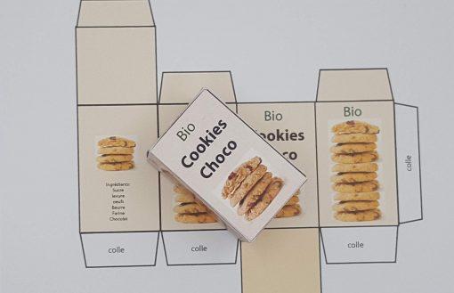 boite cookies poupée
