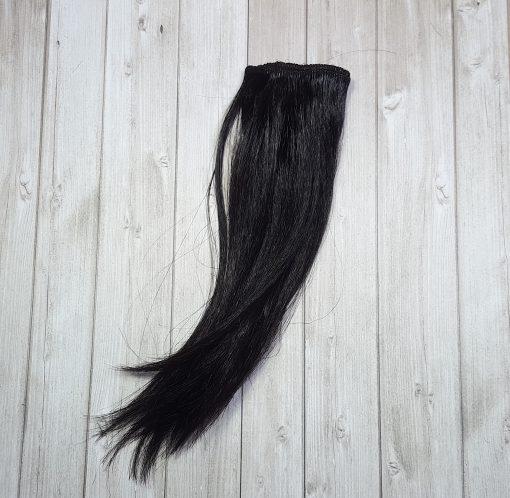 mèche cheveux raide noir