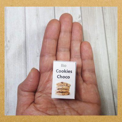 Boîte cookies bio à télécharger pour poupée