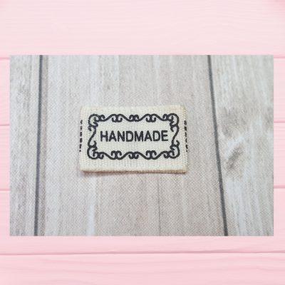 étiquette tissu handmade