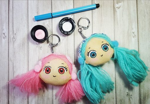 Kit porte clés kawai doll