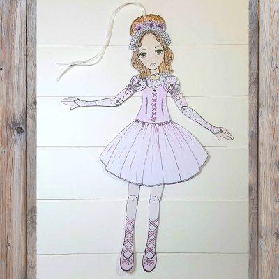poupée en carton articulée