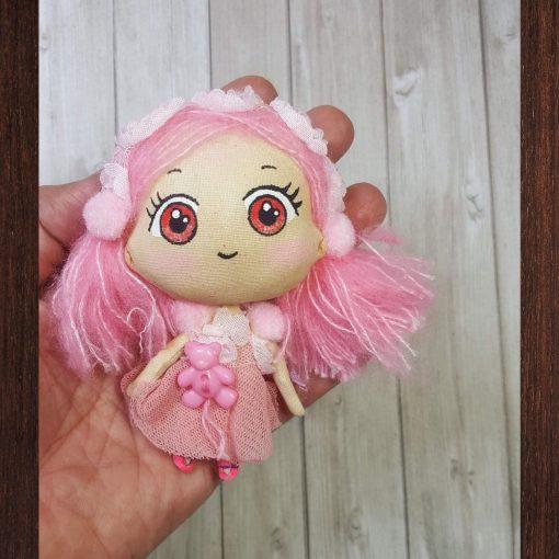 mini poupée kawaii rose