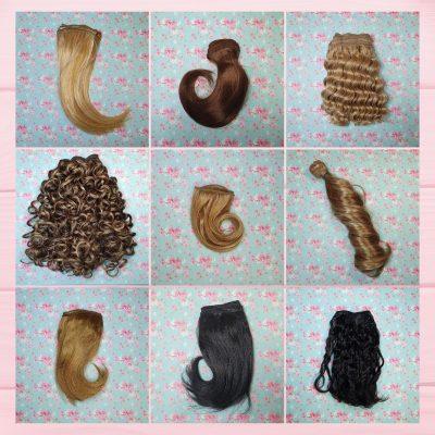 cheveux en bande pour poupées