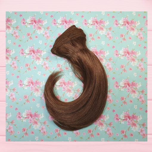 mèche cheveux auburn raide